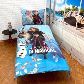 Frozen Forest Set lenzuola, Copripiumino 140x200 letto singolo 100% cotone Biancheria da letto
