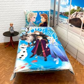 Frozen Team New Set lenzuola, Copripiumino 140x200 letto singolo 100% cotone Biancheria da letto