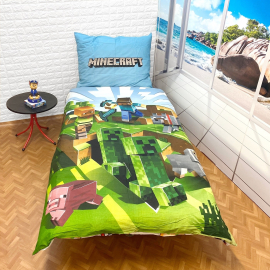 MINECRAFT set of sheets single bed DUVET COVER 140x200cm