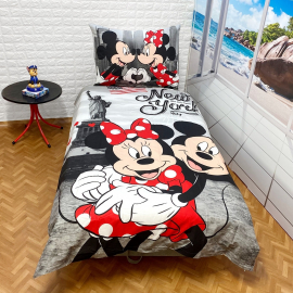 Minnie Mouse new York set of sheets single bed DUVET COVER 140x200cm