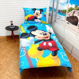 Mickey Mouse Hello set of sheets single bed DUVET COVER 140x200cm