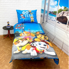 Paw Patrol set of sheets single bed DUVET COVER 140x200cm