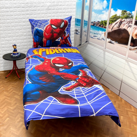 Spiderman set of sheets single bed DUVET COVER 140x200cm