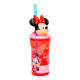 Disney Minnie Mouse Eletric 3D Cup with Figurine and Straw for Children
