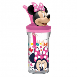 Disney Minnie Mouse So Edgy Bows 3D Cup with Figurine and Straw for Children