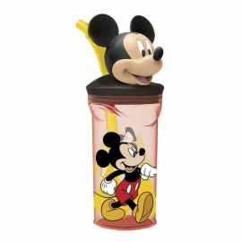 Disney Mickey Mouse anniversary 3D Cup with Figurine and Straw for Children