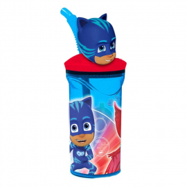Pj masks 3D Cup with Figurine and Straw for Children