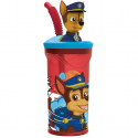 Paw Patrol 3D Cup with Figurine and Straw for Children