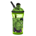 Hulk 3D Cup with Figurine and Straw for Children