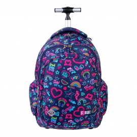 St.Right Cats Holo Backpack Trolley School Trolley for Girl