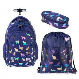 St.Right Sky Unicorn Set Backpack Trolley School Trolley for Boys