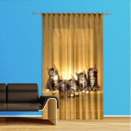 Horses Horse Voile Curtain Children's Room, Boys Panel 140x245cm