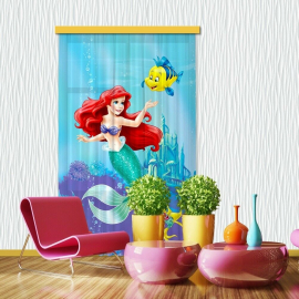 Disney Princess Voile Curtain for Children's Room, 140x245cm