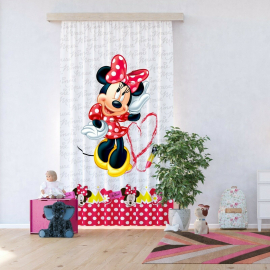 Disney Minnie Mouse Daisy Duck Voile Curtain for Children's Room, 140x245cm