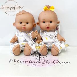 NINES D'ONIL 2x Pepotes Doll 28 cm Perfumed