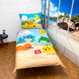 Pokemon Pikachu set of sheets single bed DUVET COVER 140x200cm