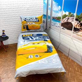 Cars Disney set of sheets single bed DUVET COVER 140x200cm