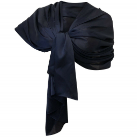 Elegant Silk Scarf Shawl Foulard, Woman Shrug Ceremony