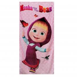 Masha e Orso 100% Cotton Towel Beach Towel 70x140cm Children