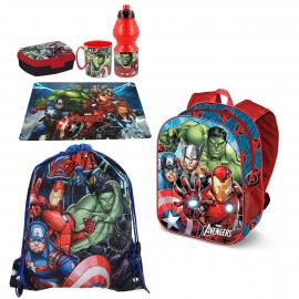 Disney Cars Red set 3D Backpack, Sport Bag, Kindergarten School Snack Set