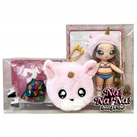 CJ Cuddles Na Na Na Surprise Series 1 Doll with Collectible Plush, Giochi Preziosi