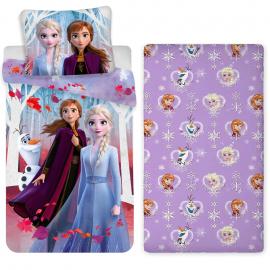 Frozen Team New 3 Pieces Set Single Bed Duvet Cover, Pillowcase + Sheets under