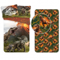 Jurassic World 3 Pieces Set Single Bed Duvet Cover, Pillowcase + Sheets under