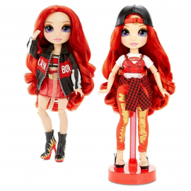 Rainbow High Orange Collectible Doll Double Outfit With Accessories and Support Ser1