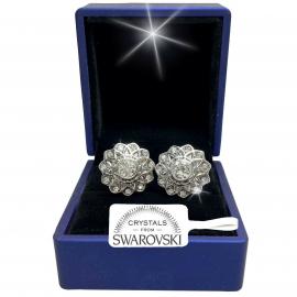 CUFFLINKS MEN'S Woman with Crystals Swarovski wedding CEREMONY