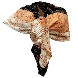 Elegant Silk Scarf pleated Shawl Foulard, Woman Shrug Ceremony