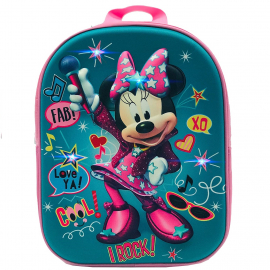 Minnie Mouse Disney Rosa Led Zainetto Zaino 3D Scuola Materna Asilo tempo Libero