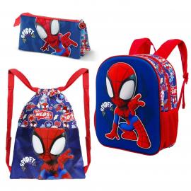 Spiderman Set 5 pieces Backpack 3D Backpack, Sports Bag, School Kindergarten Holder