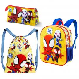 Spiderman Backpack 3D Backpack, Sports Bag, School