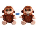 Feisty Pets Soft Monkey Toy Transformable Into Bad Kids Adults