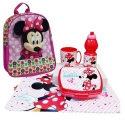 Minnie Mouse Disney set Schoolbag 3D Backpack Kindergarten Kindergarten free time