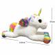 Giant Unicorn Plush Toy 95cm Sitting Pony White Glitter, Kids Girl Adults