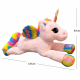 Giant Huge Unicorn Plush Toy 120cm With White Wings Lying Adult Kids
