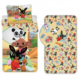 Disney Minnie Pale 3 Pieces Set Single Bed Duvet Cover, Pillowcase + Sheets under
