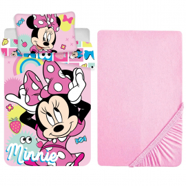 Disney Minnie Mouse Red 3 Pieces Set Child Bed Duvet Cover, Pillowcase + Sheets under