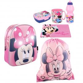 Minnie end Cat backpack set Backpack, Sport Bag, Kindergarten School Snack Set