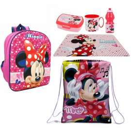 Minnie Led Pink 3D backpack set Backpack, Sport Bag, Kindergarten School Snack Set