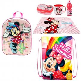 Minnie Led 3D backpack set Backpack, Sport Bag, Kindergarten School Snack Set