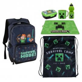 Minecraft Green Set Backpack Backpack, Sports Bag, School Kindergarten Holder