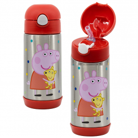 Disney Mickey Mouse Thermal Bottle in Steel 515 ml with Drinking Straw Children