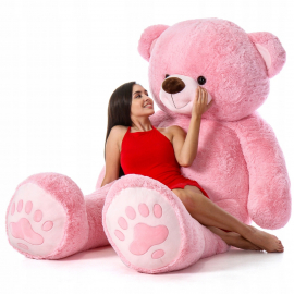 Cuddly Giant Bear Plush 200 cm Beige, Perfect Gift for Adult Children
