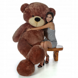 Cuddly Giant Bear Plush 200 cm Pink , Perfect Gift for Adult Children